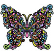 floral butterfly on white background
