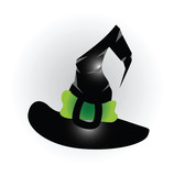 An illustration of a cartoon witchs hat