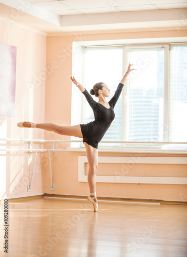 Young ballerina dancing on pointe © Andrey Bandurenko