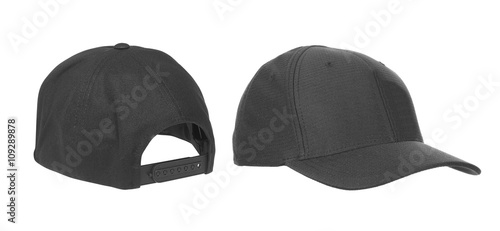 blank hat in black isolated