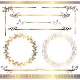 Fototapety set of gold frames