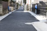 Fototapety 住宅 新築時の接道セットバック イメージ 狭い路地 東京 都心 緊急車両道幅確保