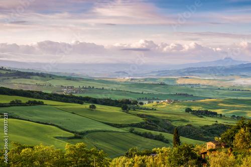 Farmland in Val d'Orcia Tuscany