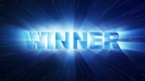 vítězem animace textu světla paprsky smyčka 4k