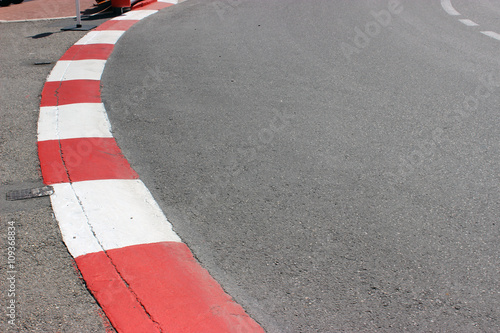Deurstickers F1 Texture of Motor Race Asphalt and Curb on Monaco GP