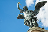 Saint Michael statue on top of Castel Sant`Angelo in Rome