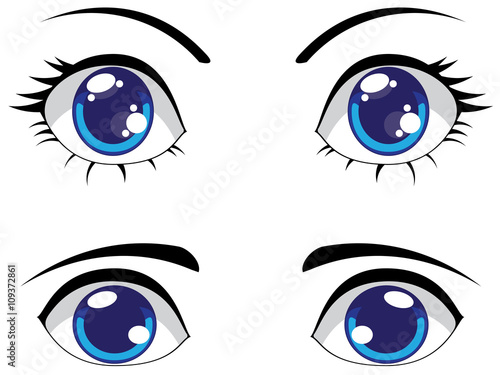 Cute Stylized Eyes - 109372861