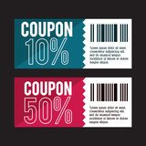 Coupon design. sale icon. shopping concept