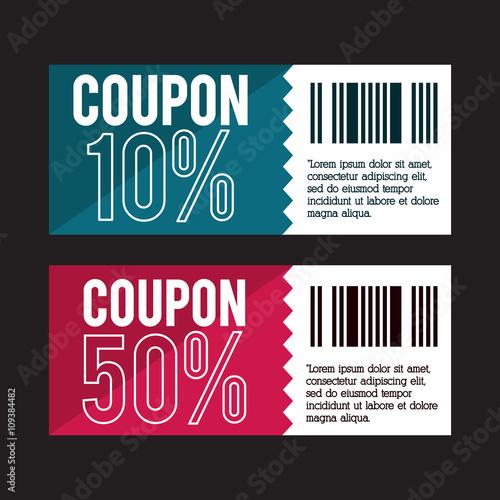 Coupon design. sale icon. shopping concept