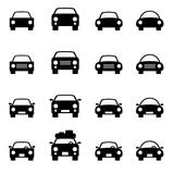 Fototapety Set 1 of icons representing car Vector Illustration