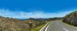 Mediterrane Landstraße auf Ibiza Spanien