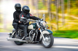 Fototapety Dynamic motorbike racing