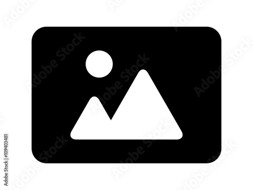 Landscape photo image or picture placeholder flat icon