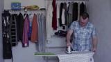 Man iron to iron a man