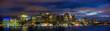 Boston Skyline Panorama at Night