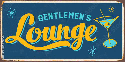 Retro metal sign - Vintage Style Gentlemen's Lounge