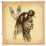 Native American, Indian - An hand drawn vector sketch, freehand - 109458258
