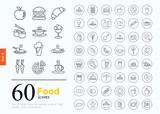 Fototapety 60 food icons