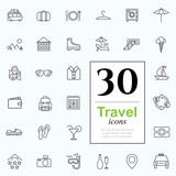 Fototapety 30 travel icons