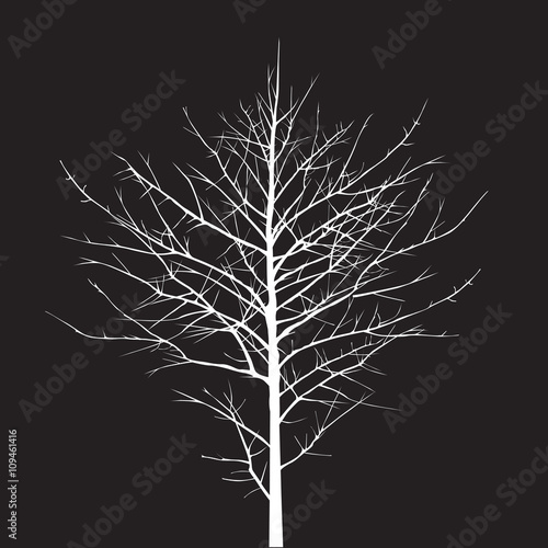 Shape of white Tree. Vector Illustration. © topor