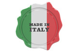 made in Italy seal, stamp. 3D rendering