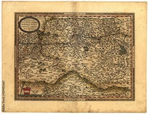 Poster vintage map