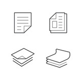 business paper   Line  icon set
