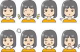 女性 表情 バリエーション