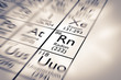 Постер, плакат: Focus on Radon Chemical Element from the Mendeleev Periodic Table