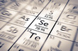 Постер, плакат: Focus on Selenium Chemical Element from the Mendeleev Periodic Table