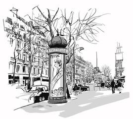 Boulevard in Paris