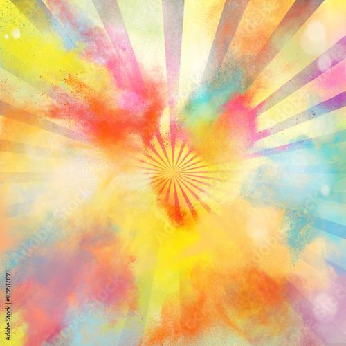 Fototapeta Pop-art colourful burst