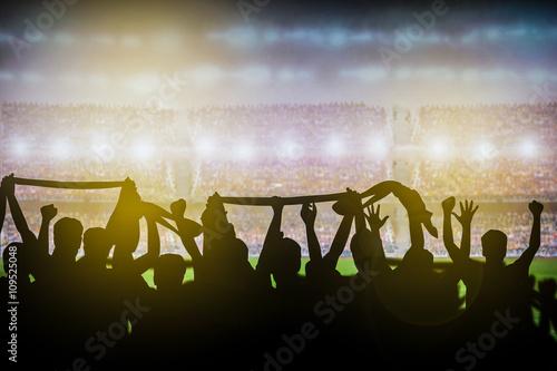 Poster soccer stadium background