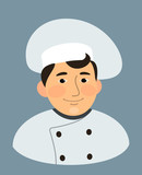 chief cook cartoon isolated vector