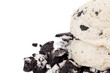 cropped image of scoop of cookies and cream ice cream