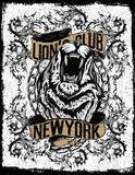 new york lion t-shirt graphic