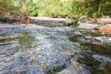Crystal water surface in stream for nature background