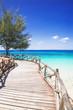 Beautiful bay on the tropical island of Zanzibar