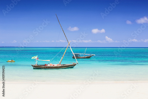Tropical seascape, Zanzibar island