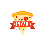 Restaurant Logo With Pizza Slice