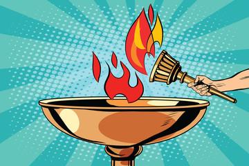 Fire torch bowl of fire