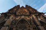 Prague Castle, Cathedral St. Vitus, horizontal front view, Czech