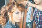 Fashion hairstyle. Make up. Hair saloon