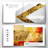 Set of annual report business templates for brochure, magazine, flyer or booklet. Abstract colorful polygonal background, modern stylish triangle vector texture