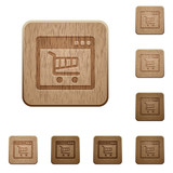 Webshop application wooden buttons