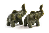 Figurines of elephants from nephrite
