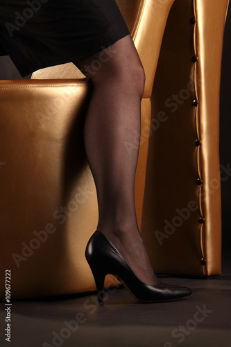Poster leg of a woman in stockings