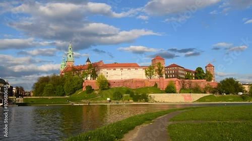 Royal Castle in spring, Krakow