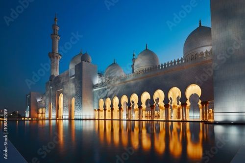Foto op Canvas Abu Dhabi Mosque in Abu Dhabi