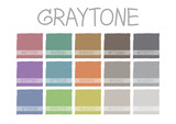 Fototapety Graytone Color Tone with Code Vector Illustration